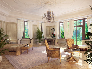 barockes schlafzimmer - baroque bedroom