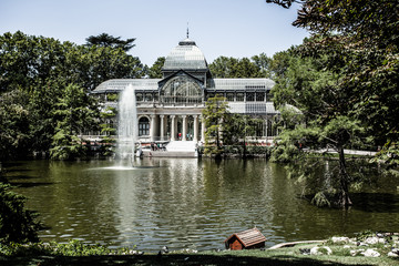 Madrid Palacio de Cristal in Retiro Park crystal palace Spain