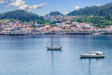 Panoramic of Muros fishing village. Province of La Coruña, Spain