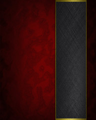 Design template - Red texture with black ribbon