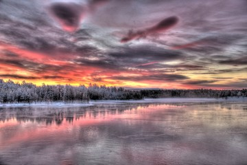Photo sur Plexiglas Lavende Paysages de la Laponie finlandaise