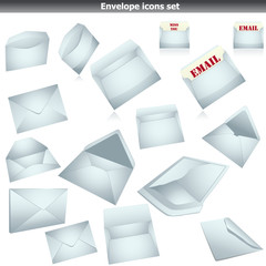Envelope set on white