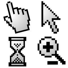 Poster Pixel Pixelated computer cursors