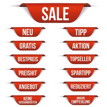 Ecken Slogans - Reduziert - Sale- Angebot - Aktion