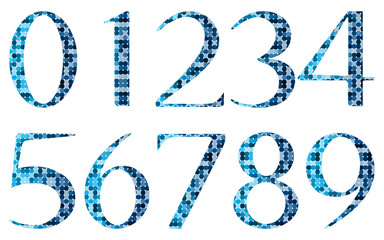 Number set, from 0 to 9