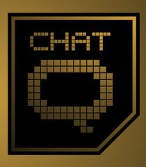 Photo sur Toile Pixel Golden chat
