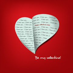 Message of heart  for Valentine's day card