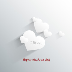 3D Heart  for Valentine's day card