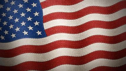 United States of America flag textured - Illustration