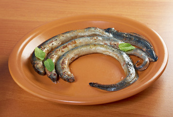 Grilled lamprey