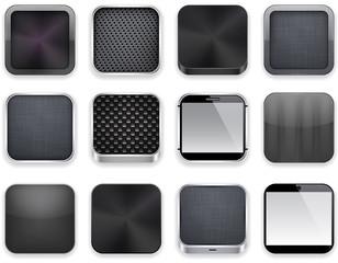 Black app icons.