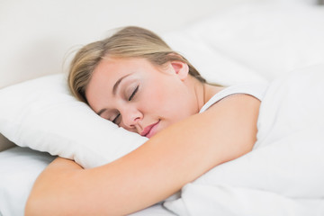 Blonde woman sleeping