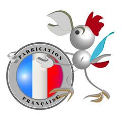 Fabrication Française, le coq Gaulois