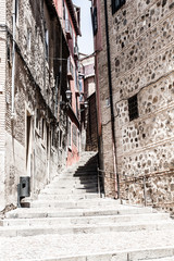 Medieval streets of Toledo, Spain