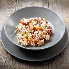 piatto di risotto ai frutti di mare