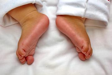 Children's feet.