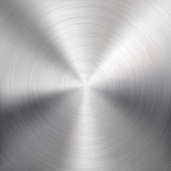 Fototapete - Background with Circular Metal Brushed Texture