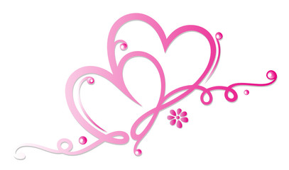 Herz, Herzen, Liebe, love, Valentinstag, rosa