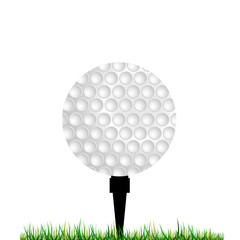 golf balls vector illustration