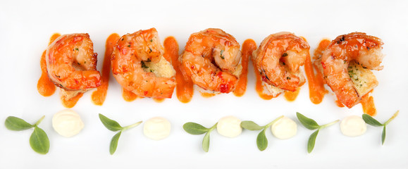 King Prawns Served in Plate