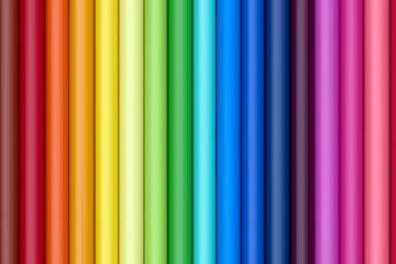 Aligned Color Pencils Bars