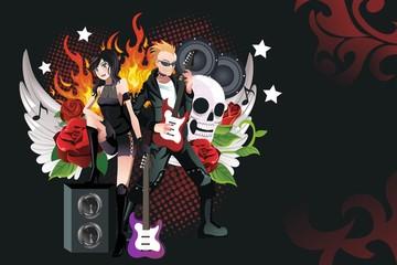 Rock music background