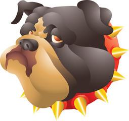 Black bulldog head