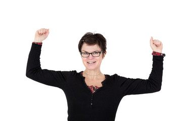 Woman is excited and happy