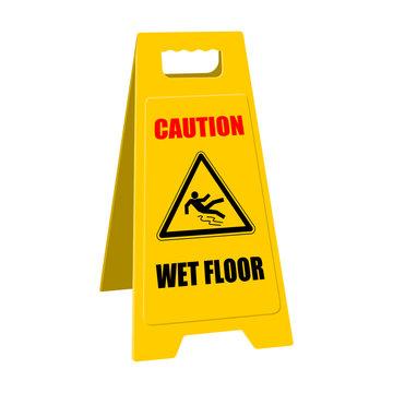 positioner caution wet floor II