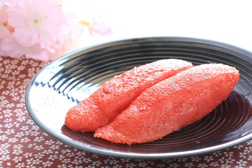 japanese cuisine, marinated roe of pollock Mentaiko