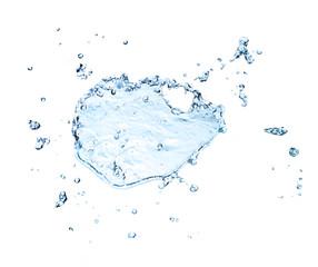 The splash splashing in the white background