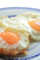 sunny side up on chinese dish