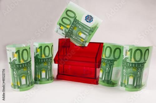 Hausbau Und Finanzierung 500 Euro Stock Photo And Royalty Free