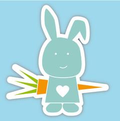 Kaninchen mit Möhre