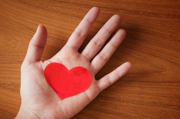 hand giving heart