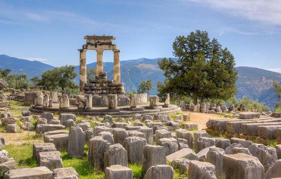 Sanctuary of Athena Pronaia, Delphi, Greec