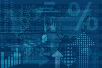 Finance Mondiale Bleu