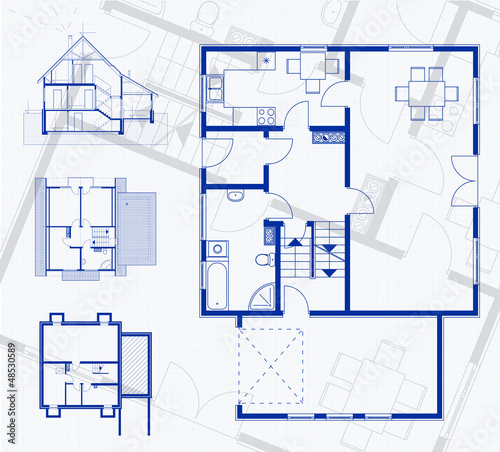 Floor plan blueprint vector illustration stock image and royalty floor plan blueprint vector illustration malvernweather Gallery
