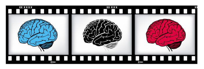 brains on film background