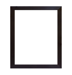 Black wood frame isolated on white background
