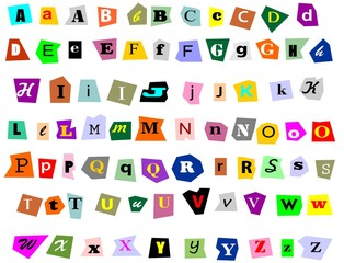 Collage Alphabet