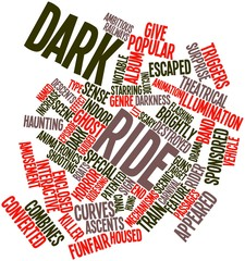 Word cloud for Dark ride
