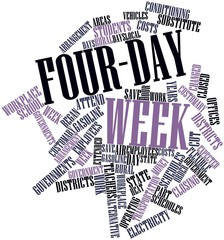 Word cloud for Four-day week