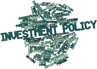Word cloud for Investment policy