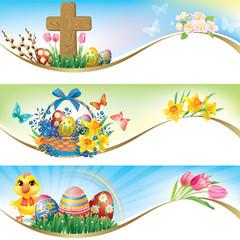 Easter horizontal banners