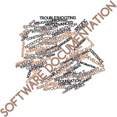 Word cloud for Software documentation