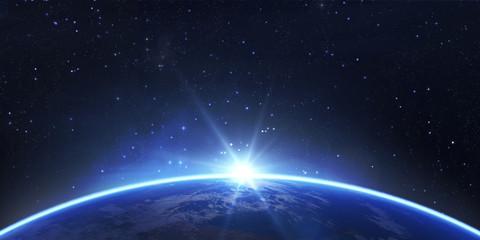 Planet Erde - Sonnenaufgang