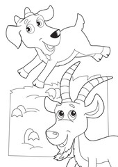 Printed roller blinds Do it Yourself The coloring plate - illustration for the children
