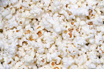 sfondo di popcorn appena fatti