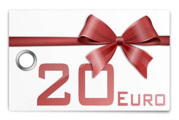 Gutschein Geschenkkarte 20 Euro